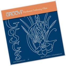 (GRO-FL-40250-01)Groovi® Baby plate A6 BARBARA'S FLORAL ALPHABET - G