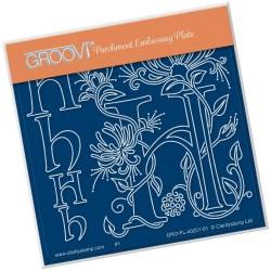 (GRO-FL-40251-01)Groovi® Baby plate A6 BARBARA'S FLORAL ALPHABET - H