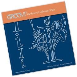 (GRO-FL-40252-01)Groovi® Baby plate A6 BARBARA'S FLORAL ALPHABET - I