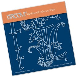 (GRO-FL-40255-01)Groovi® Baby plate A6 BARBARA'S FLORAL ALPHABET - L