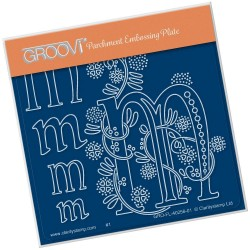 (GRO-FL-40256-01)Groovi® Baby plate A6 BARBARA'S FLORAL ALPHABET - M