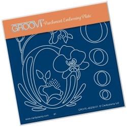 (GRO-FL-40258-01)Groovi® Baby plate A6 BARBARA'S FLORAL ALPHABET - O
