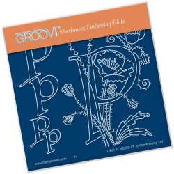 (GRO-FL-40259-01)Groovi® Baby plate A6 BARBARA'S FLORAL ALPHABET - P