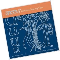 (GRO-FL-40264-01)Groovi® Baby plate A6 BARBARA'S FLORAL ALPHABET - U