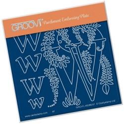 (GRO-FL-40266-01)Groovi® Baby plate A6 BARBARA'S FLORAL ALPHABET - W