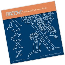 (GRO-FL-40267-01)Groovi® Baby plate A6 BARBARA'S FLORAL ALPHABET - X