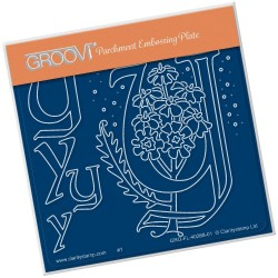 (GRO-FL-40268-01)Groovi® Baby plate A6 BARBARA'S FLORAL ALPHABET - Y