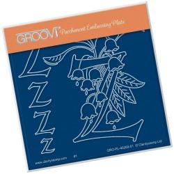 (GRO-FL-40269-01)Groovi® Baby plate A6 BARBARA'S FLORAL ALPHABET - Z