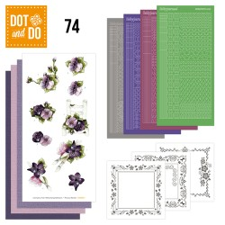 (DODO074)Dot and Do 74 - Purple Flowers