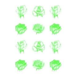 Pergamano vellum roses green (62552)