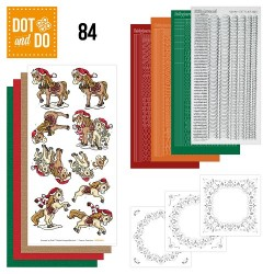 (DODO084)Dot and Do 84 - Yvonne Creations - Kerstpaarden