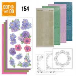 (DODO154)Dot and Do 154 Pink Flowers