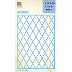 (LCDL001)Nellie's Layered combi dies Rectangle Lattice Layer-A