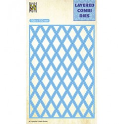 (LCDL002)Nellie's Layered combi dies Rectangle Lattice Layer-B