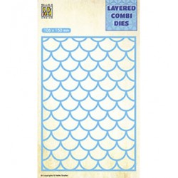 (LCDW001)Nellie's Layered combi dies Rectangle Waves Layer-A