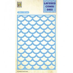 (LCDW002)Nellie's Layered combi dies Rectangle Waves Layer-B
