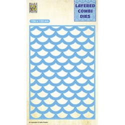 (LCDW003)Nellie's Layered combi dies Rectangle Waves Layer-C