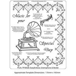(TP3552E)PCA® - EasyEmboss Gramophone & Border