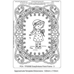 (TP3555E)PCA® - EasyEmboss Floral Frame - 3