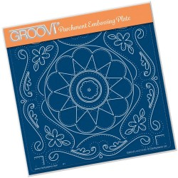 (GRO-AN-41213-03)Groovi Plate A5 TINA'S EMBROIDERY FLOWERS
