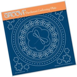 (GRO-AN-41212-03)Groovi Plate A5 TINA'S EMBROIDERY DRAGONFLY