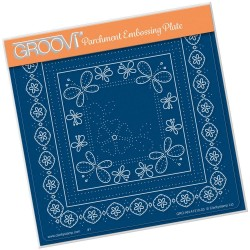(GRO-AN-41210-03)Groovi Plate A5 TINA'S EMBROIDERY BUTTERFLIES