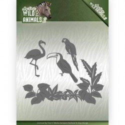 (ADD10174)Dies - Amy Design - Wild Animals 2 - Tropical Birds