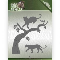 (ADD10175)Dies - Amy Design - Wild Animals 2 - Panther