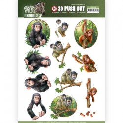 (SB10349)3D Pushout - Amy Design - Wild Animals