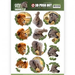 (SB10351)3D Pushout - Amy Design - Wild Animals 2 - Africa