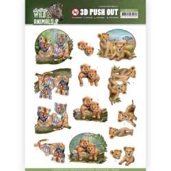 (SB10352)3D Pushout - Amy Design - Wild Animals 2 - Twins