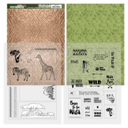 (ADMC1001)Printed Sheets - Amy Design - Wild Animals