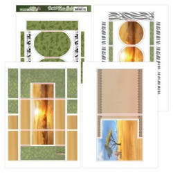 (ADFC10001)Printed Figure Cards - Amy Design - Wild Animals