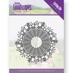 (JAD10064)Dies - Jeanine's Art - Spring Landscapes - Spring Scalloped Circle