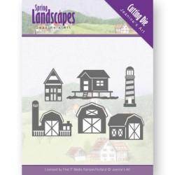 (JAD10071)Dies - Jeanine's Art - Spring Landscapes - Houses on the Horizon