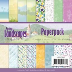 (JAPP10010)Paperpack - Jeanines Art - Spring Landscapes