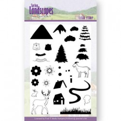 (JACS10026)Clear Stamps - Jeanines Art- Spring Landscapes Mountains