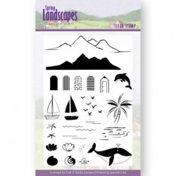 (JACS10027)Clear Stamps - Jeanines Art- Spring Landscapes Sea