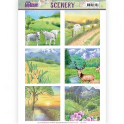 (CDS10009)Die Cut Topper - Scenery Jeanines Art - Spring Landscapes 2