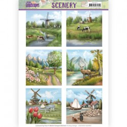 (CDS10010)Die Cut Topper - Scenery - Spring Landscapes 1