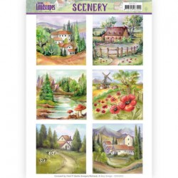 (CDS10011)Die Cut Topper - Scenery – Amy Design - Spring Landscapes 2