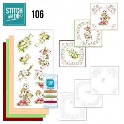(STDO106)Stitch and Do 106 Pink Spring Flowers