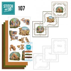 (STDO107)Stitch and Do 107 Wild Animals