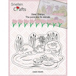 (CLP001)Snellen crafts Clearstamp - pond