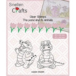 (CLP002)Snellen crafts Clearstamp - crocodile