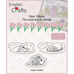 (CLP003)Snellen crafts Clearstamp - fish