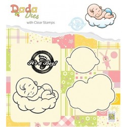 (DDCS010)Nellie's DADA Dies with stamp It's a boy: sweet dreams