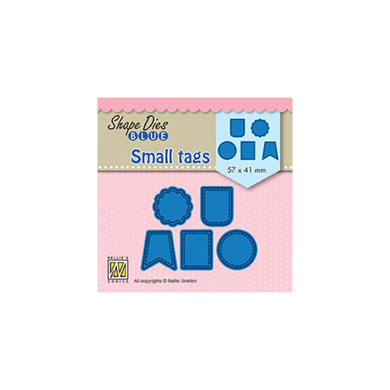 (SDB078)Nellie's Shape Dies Blue Small tags