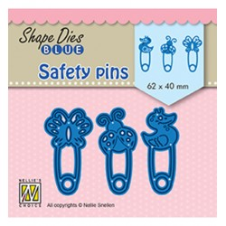 (SDB079)Nellie's Shape Dies Blue Safety pins