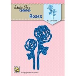 (SDB080)Nellie's Shape Dies Blue Roses